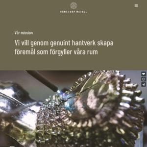 Designprogram & webb för Humstorps metall