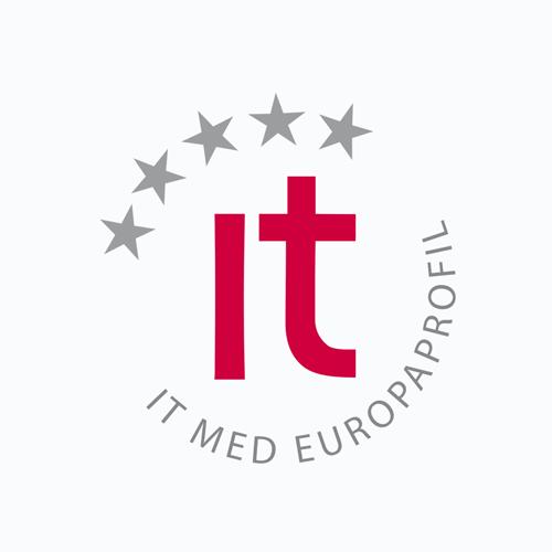 Logotyp för IT med europaprofil